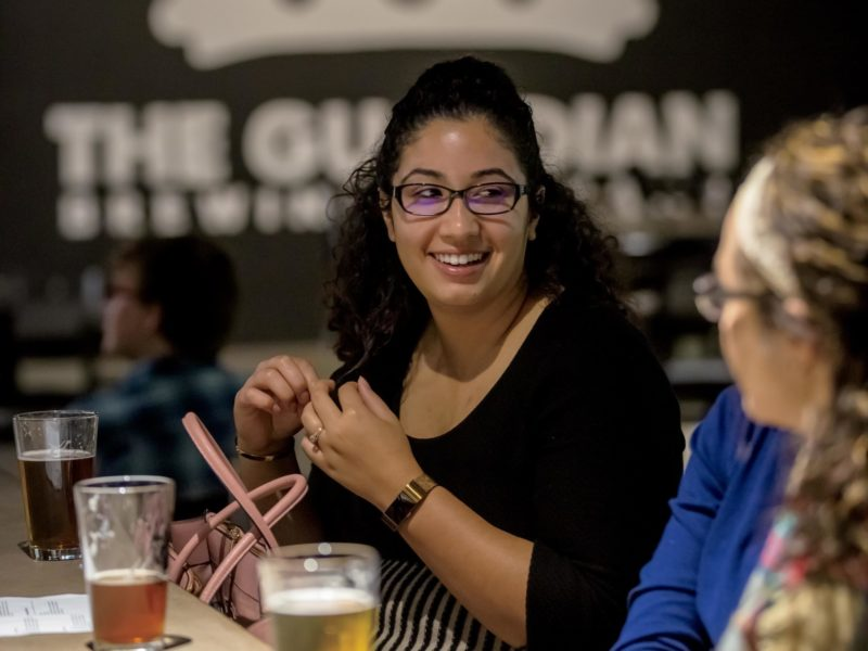 Women enjoying draft beers at Guardian Brewing Company in Muncie, Indiana