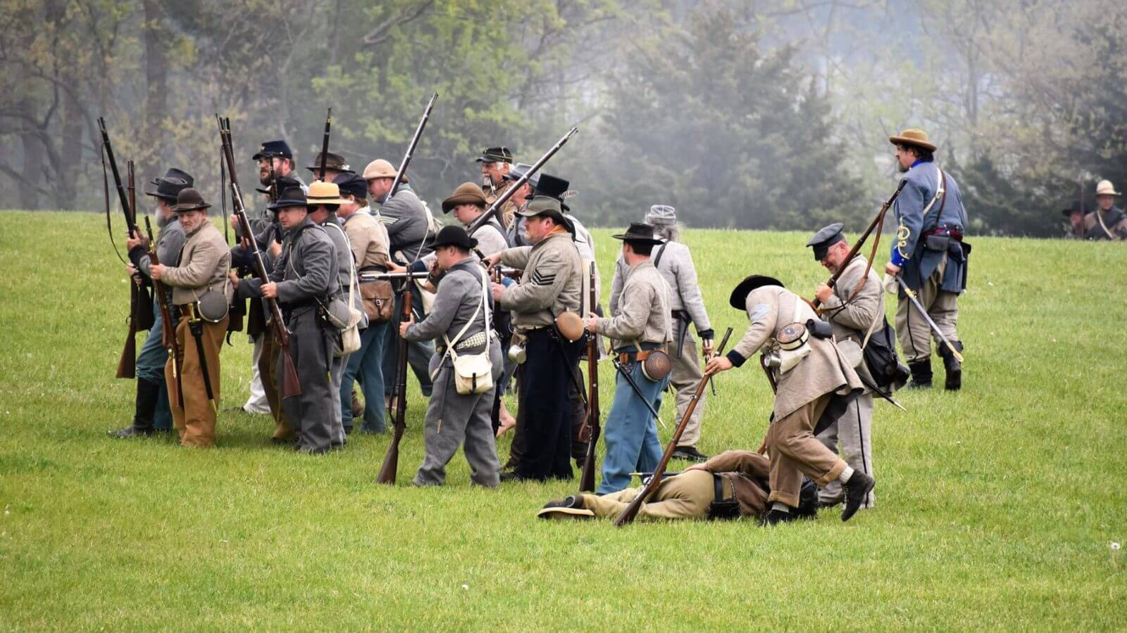 War reenactment in Blackford County, Indiana