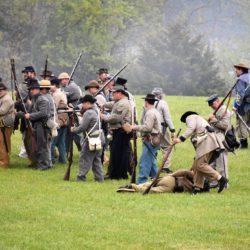 War reenactment in Blackford County, Indiana