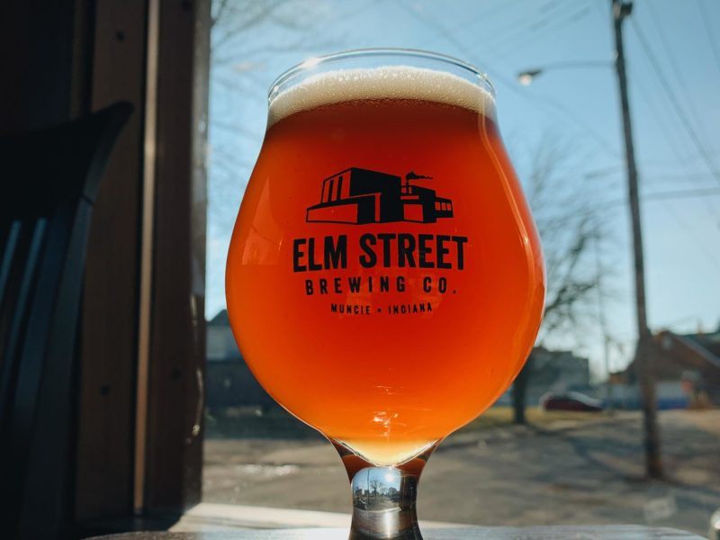 Beer at Elm Street Brewery in Muncie, Indiana