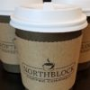 Cups of coffee at Northblock Coffee Company in Winchester, Indiana
