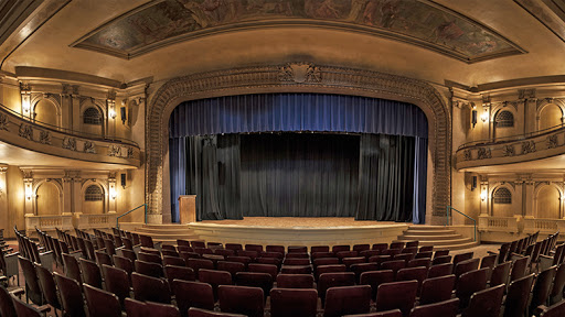The stage at Cornerstone Center for the Arts in Muncie, Indiana