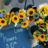 Fresh wildflowers and sunflowers at Minnetrista Market in East Central Indiana