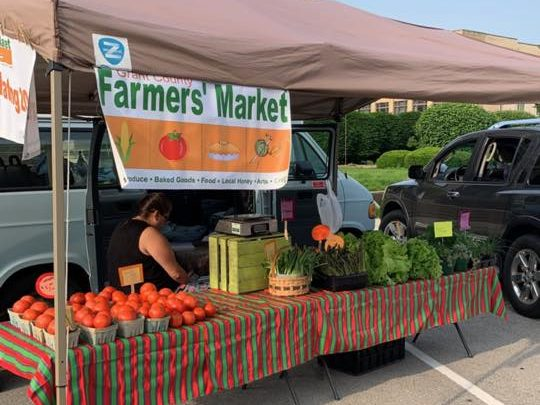 Fresh product at Grant County Farmers Market in East Central Indiana