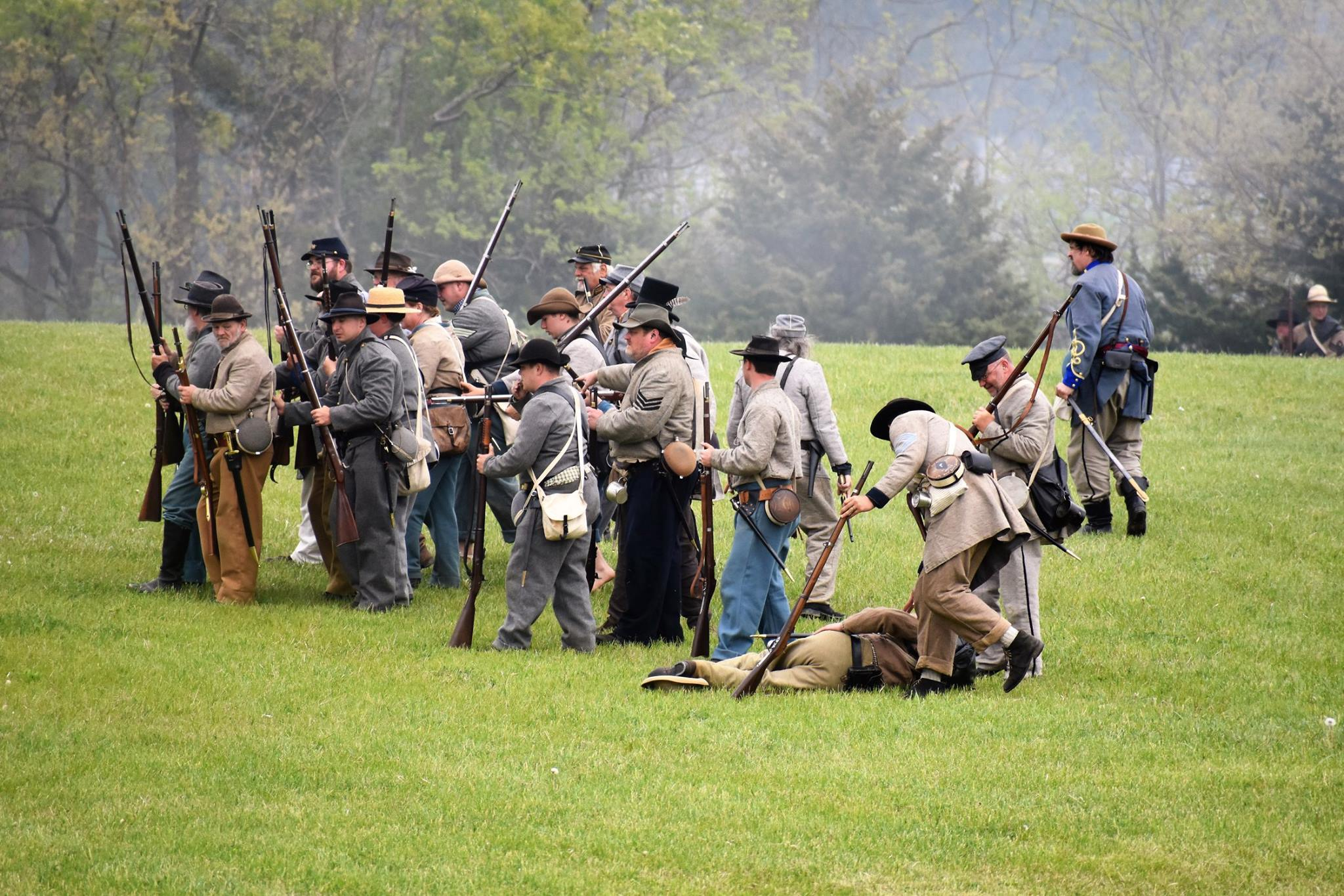Civil War reenactment at Hartford City Civil War Days in Indiana