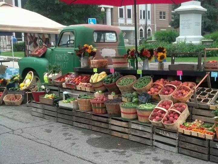 Organic produce at Henry County Farmers Market in East Central Indiana