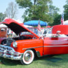 Cars at the James Dean Festival in Fairmount, Indiana