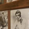 Photo wall of James Dean at the Fairmount Historical Museum in Fairmount, Indiana