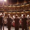 Performers take a bow on stage at the Richmond Civic Theatre in Indiana
