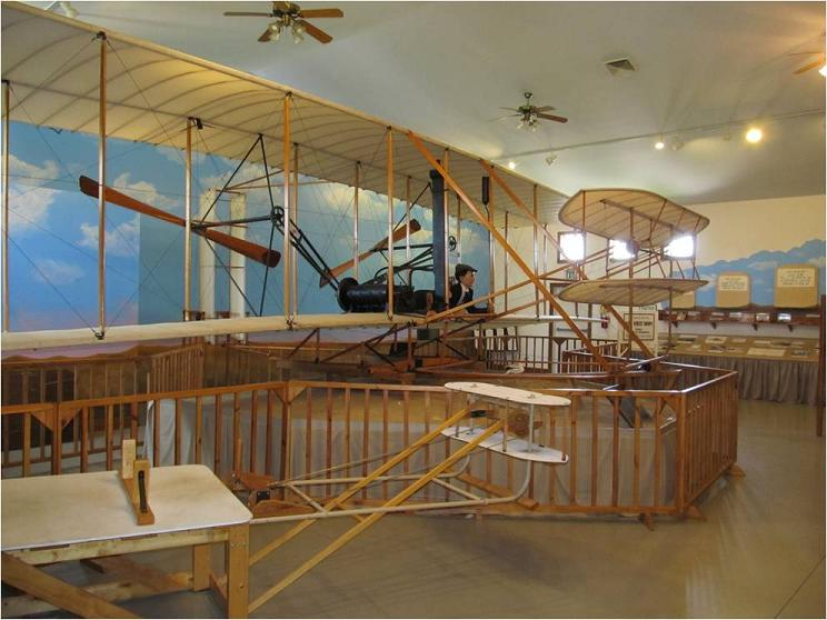 Replicas on display at the Wilbur Wright Museum in Hagerstown, Indiana