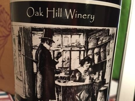 Bottle of wine at Oak Hill Winery in Converse, Indiana